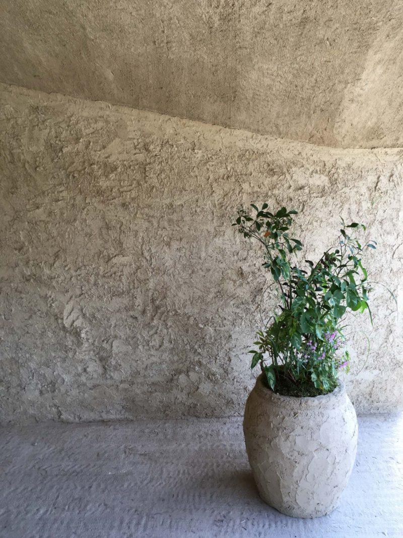 土壁と土器