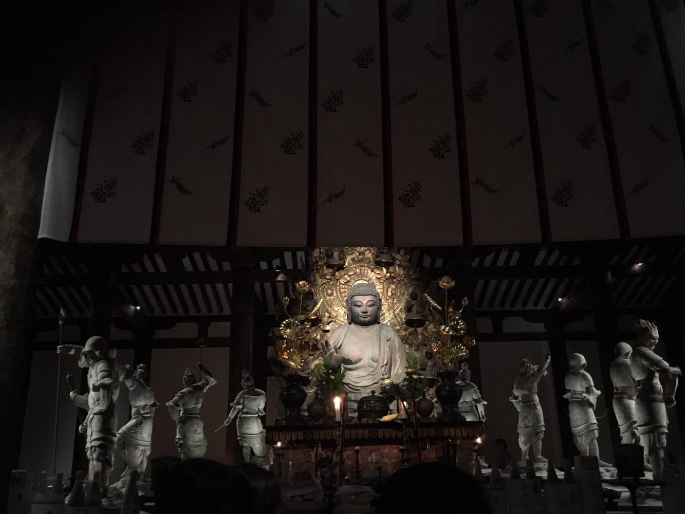 お盆の新薬師寺